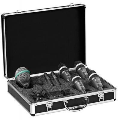 'AKG Drum Set Concert I est set de micro haut de gamme pour batterie, composé de 7 micros