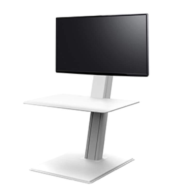 humanscale QuickStand éco écran unique blanc showroomaudio