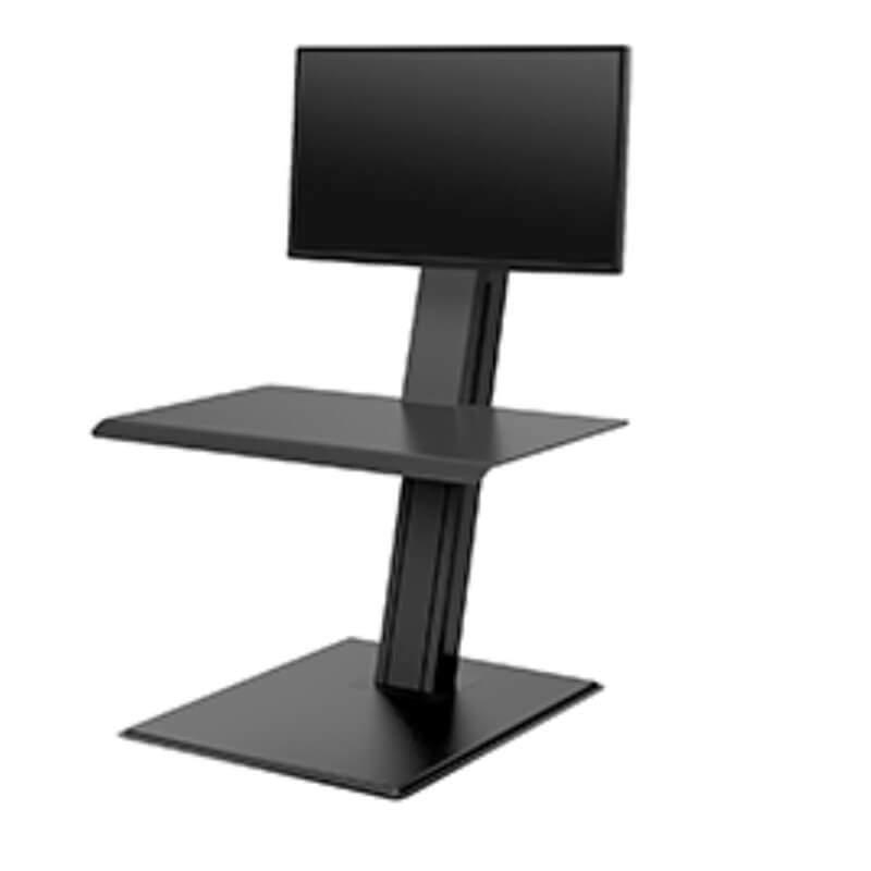 humanscale QuickStand éco écran unique noir showroomaudio