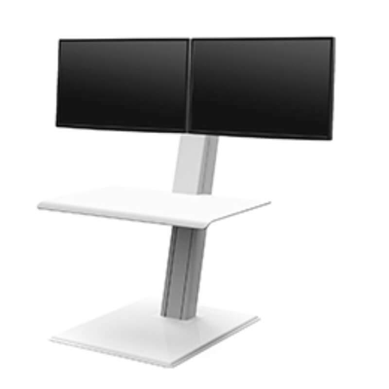 humanscale QuickStand éco écran double blanc showroomaudio