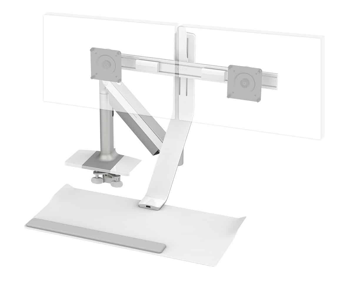 humanscale QuickStand Lite barre transversal courte showroomaudio