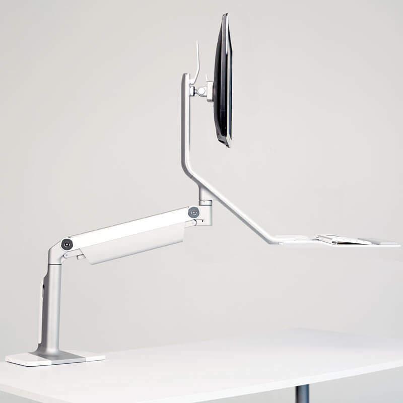 humanscale QuickStand Lite gris metallisé showroomaudio