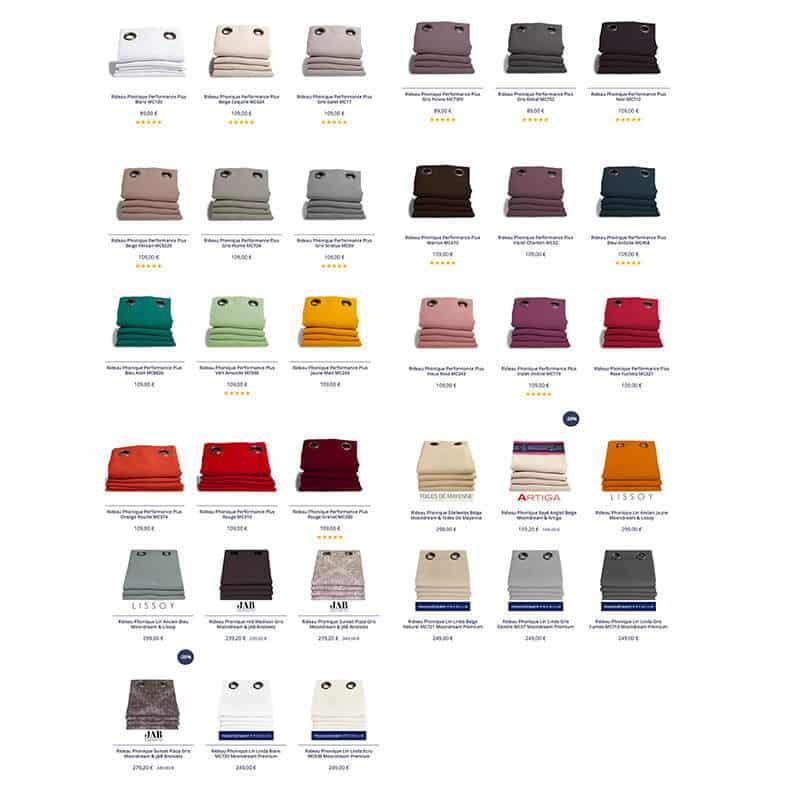 rideau phonique couleurs